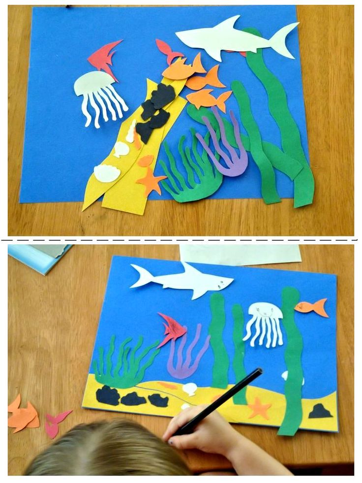 Easy Toddler Art Craft Ocean Scene Project Only 3