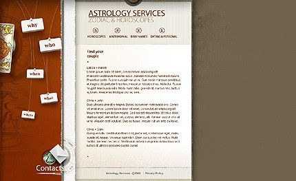 Astrology Services Website Templates by Jaguar