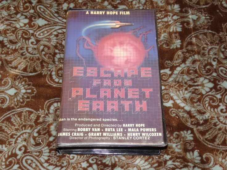 """Escape from Planet Earth (VHS, 1985) OOP 1st Academy Big Box! """"Doomsday Machine"""""""
