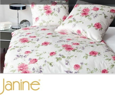 Janine Messina 4777-01 overtrek satijn,bloem,rood,wit,groen Hulsta:bed,Metis,hoogglans taupe  Slaapkamers, bedtextiel, sierkussens en accessoires  www.theobot.nl