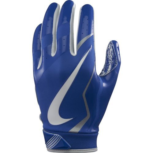 Nike Youth Vapor Jet 4 Football Gloves Blue/White - Football Equipment, Football Equipment at Academy Sports