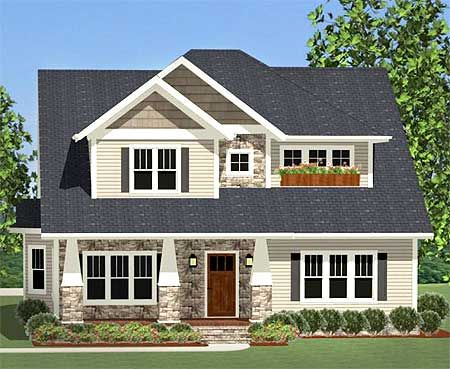 Flexible Craftsman With Laundry Chute - 46228LA | Craftsman, Northwest, Narrow Lot, 1st Floor Master Suite, Bonus Room, Butler Walk-in Pantry, CAD Available, Den-Office-Library-Study, PDF, Corner Lot | Architectural Designs