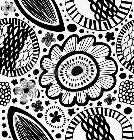 nordic pattern: Фантазия графический узор в скандинавском стиле. Абстрактный фон с стилизованные цветы