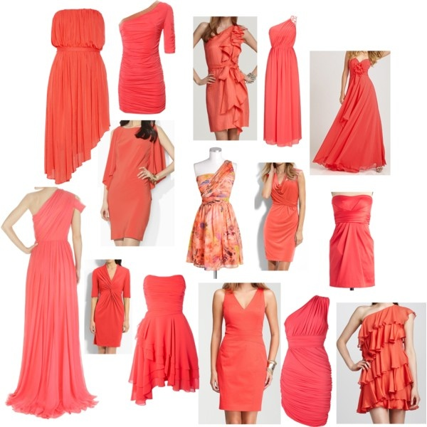 Bridesmaids & Maid of Honor Dress Ideas/ since you liked the coral color dresses Keeley
