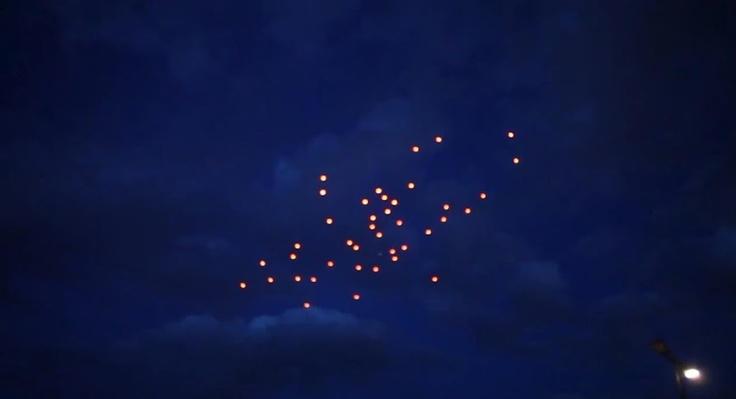 ¿Ovnis en el cielo?, en Austria se han comenzado a ver ciertas luces haciendo formaciones, ¿ya lo habías visto?