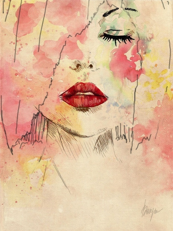 Girl watercolor sketch | Watercolor | Pinterest | Girls ...