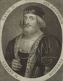 David II (1324 - 1371). King of Scotland from 1329 to his death in 1371. He fled…