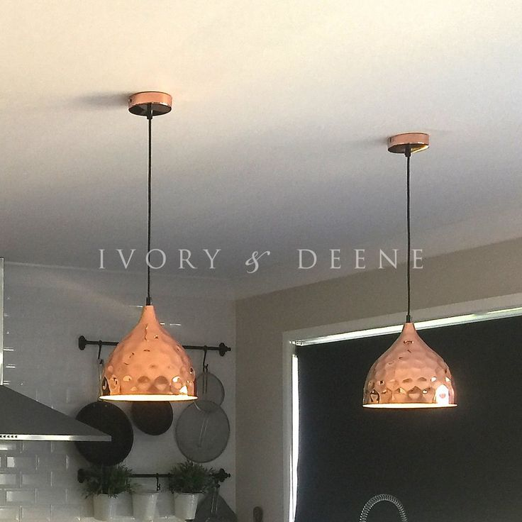 Pendant Light - Copper Hammered - Nora #black-pendant #chrome-pendant #concrete-pendant