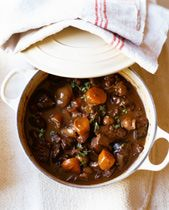 Irish Mutton Stew (Mutton or Lamb Shoulder) - you can substitute beef but traditional Irish Stew is always made with lamb/mutton.