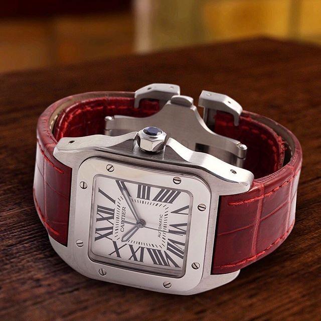 b16449c2b2db The Cartier Santos 100 - my favourite watch (though I prefer it on a black  strap)