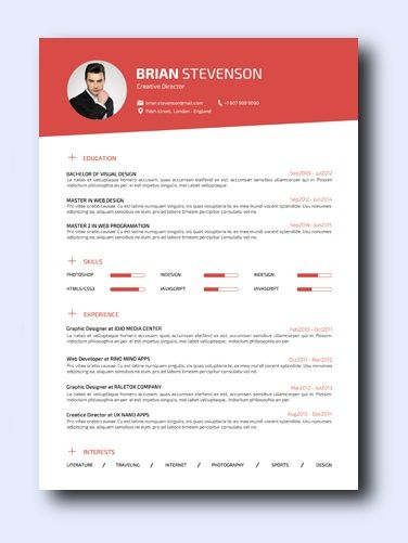 Smart Red | Even non-creative jobs can benefit from a modern resume as it highlights your creativity, which is a sought-after trait that employers look for and it adds a conservative amount of color and design while remaining professional and clean.