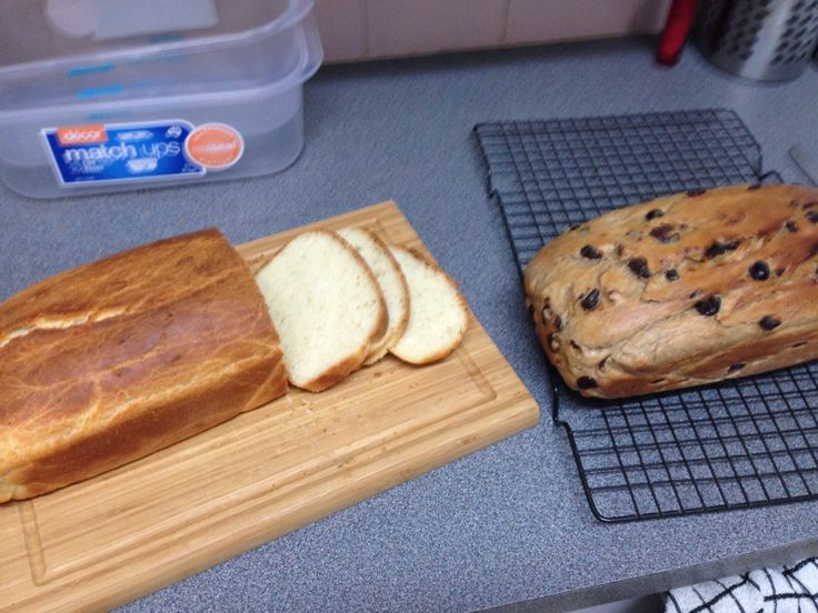 Mmmm freshly baked buttermilk bread and fruit loaf