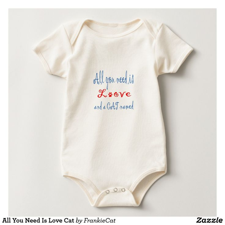 All You Need Is Love Cat Baby Bodysuit
