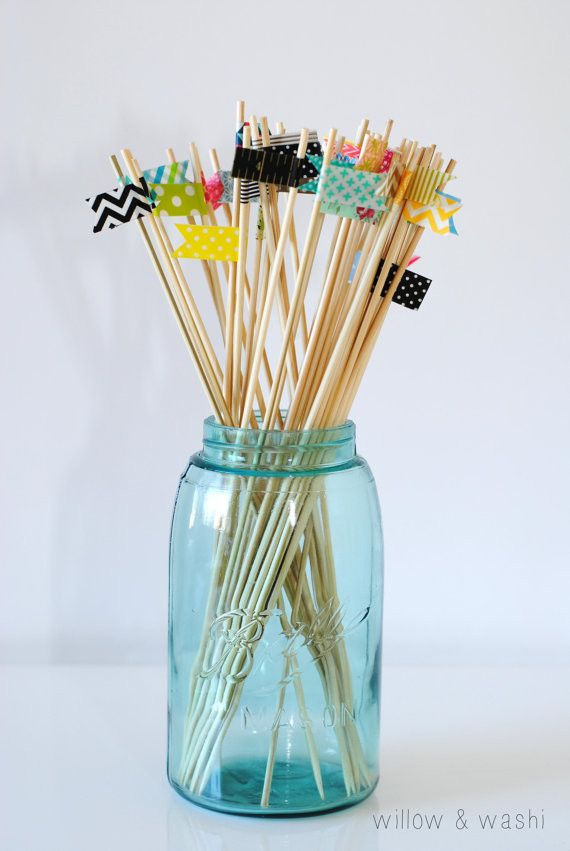 Cocktail stirrers - #Washi tape. No summer is complete without one of these in your drink.