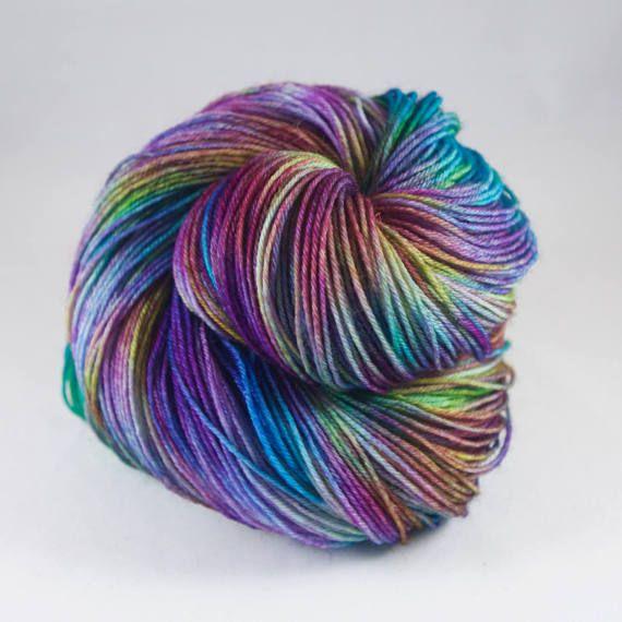Hand geverfd garen van het sok hand geverfd garen van wol