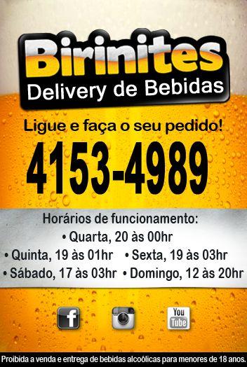 BIRINITES DELIVERY DE BEBIDAS PROMOÇÕES E NOVIDADES!!! www.facebook.com/... #BirinitesDelivery #Birinites #Alphaville #Tambore #AlphavilleeArredores #Delivery #Beer #Cerveja #Drinks
