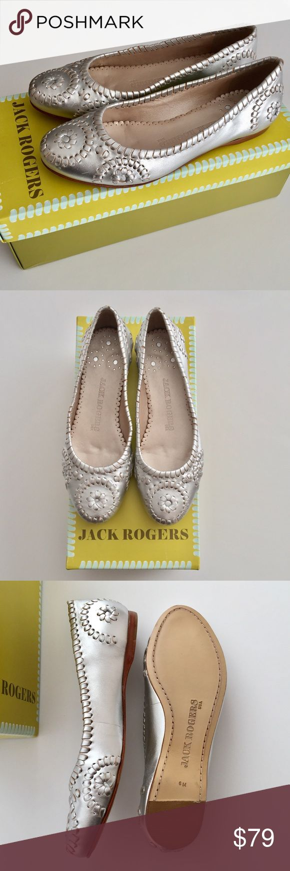 Brand New! Jack Rogers Slim Flat - Silver Shoe: Roger Slim Flat Style #: 1611035FM Color: Silver Size: 6 Medium  Never worn. No scuffs on bottoms. Fit true to size. Comes with box. Jack Rogers Shoes Flats & Loafers