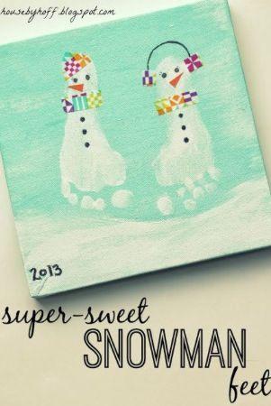 Cadre pied bonhome de neige