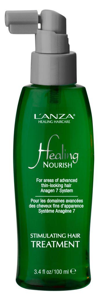 Das Spray enthält eine besonders starke Dosis von L'ANZAs einzigartigem Anagen 7 System, wodurch die Behandlung besonders tiefenwirksam ist. Das Treatment wird direkt in die Kopfhaut einmassiert. Dies fördert die Durchblutung und stimuliert das Haarwachstum. Das Treatment ist das perfekte Finish für dünnes Haar, das zu Haarausfall neigt. Preis: 31,80€ / 100 ml