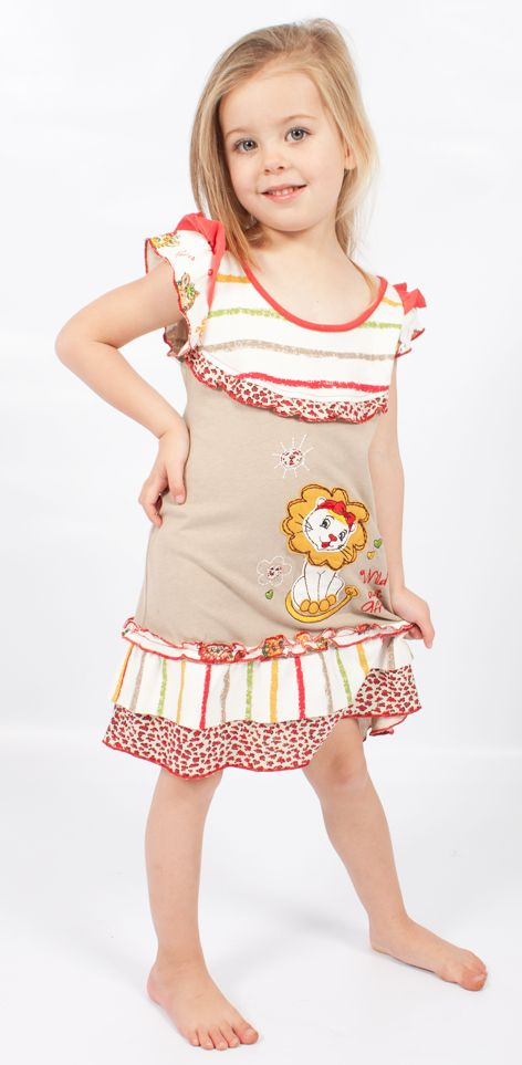 The Summer is magic! Beautiful Lion floral embroidery dress in 100% cotton. #fairtrade #childrensclothing #southafrica
