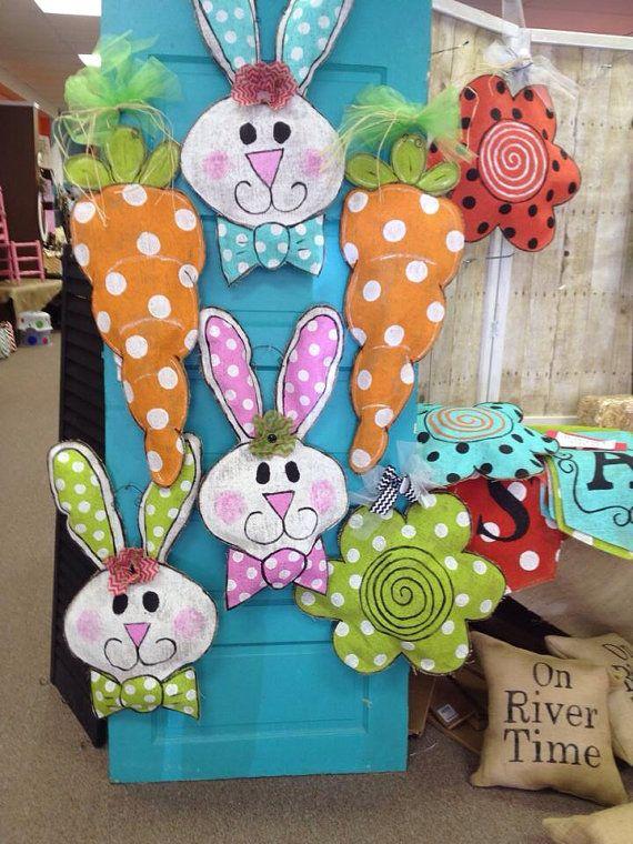 Burlap+Easter+Carrot+Door+Hanger+Spring+Burlap+by+ & 32 best Burlap Door Hangers images on Pinterest   Burlap crafts ...