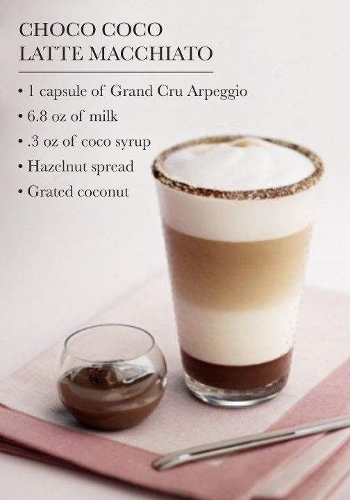 Nothing says indulgence quite like a Nespresso coffee creation bursting with chocolate flavor. Try serving this Choco Coco Latte Macchiato recipe to your party guests as a delicious dessert.