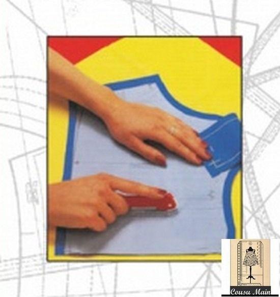 Papier carbone pour relever les patrons - Jaune et blanc- Atelier Cousu Main : Matériel Couture par cousu-main-mercerie