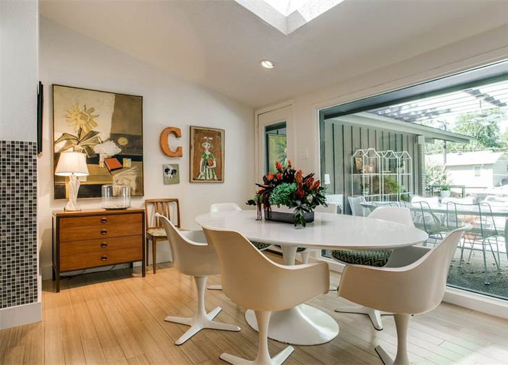 This Eclectic Mid Century 1961 Home In Dallas Texas Is Currently On The  Market. The Brick Work Is What Makes. Find This Pin And More On Modern  Dining Rooms ...