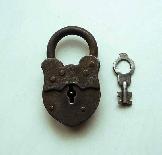Soviet vintage padlock ZM with key 42