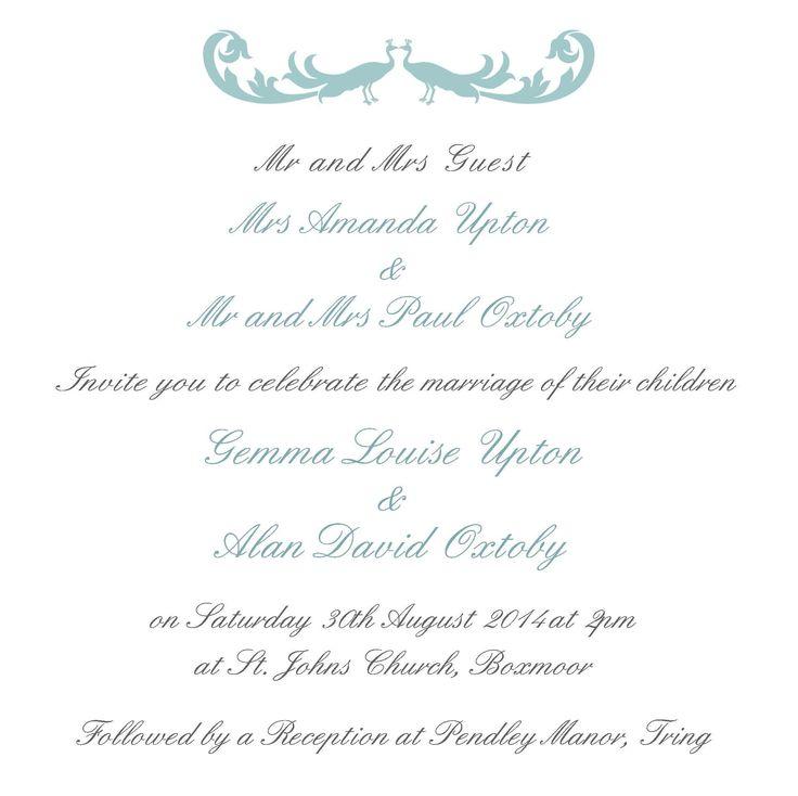 17+ best ideas about wedding invitation templates on pinterest, Wedding invitations