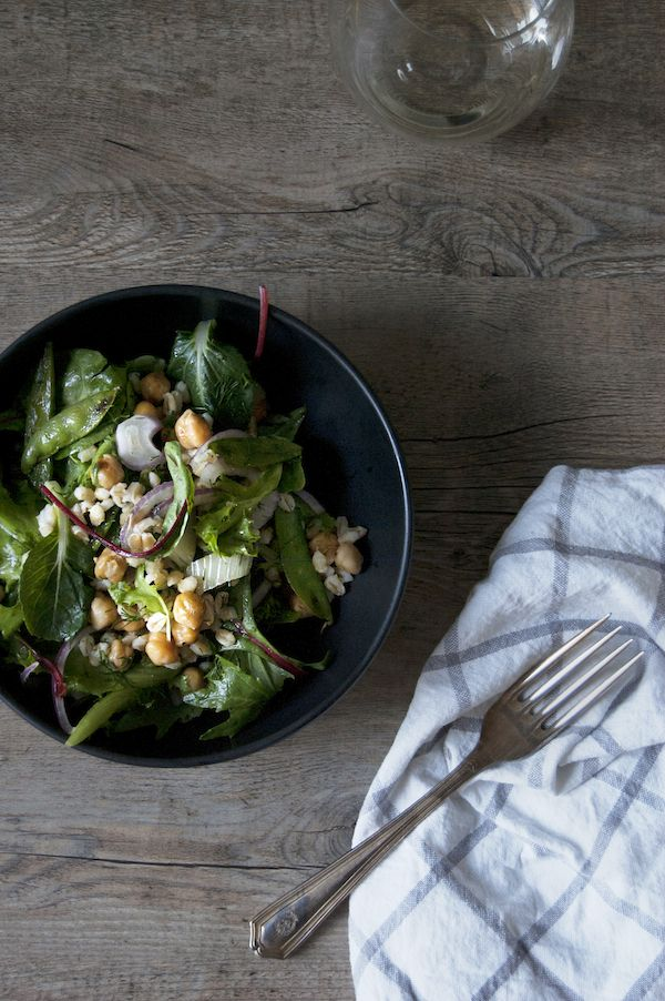 chickpea an dill barley salad with grilled fennel and snap ...