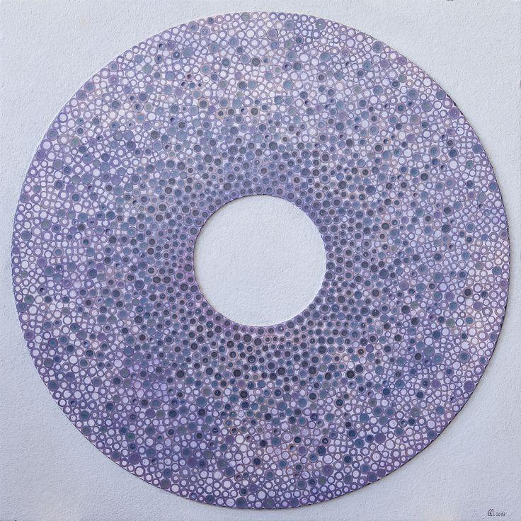 "Stefano Maraner ""Aurora"" mixed media/wood on table 2014"