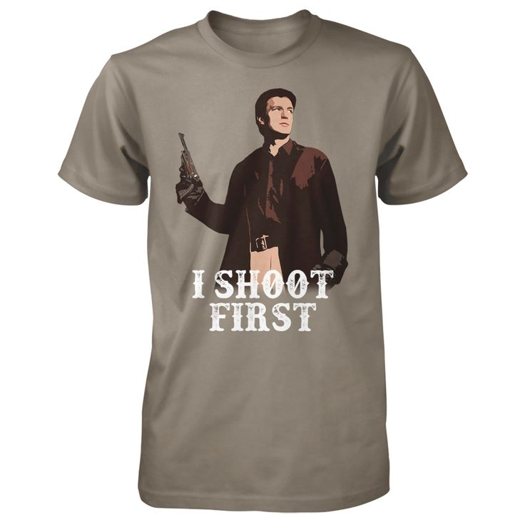 """Nathan Fillion's """"I Shoot First"""" Charity Tee 