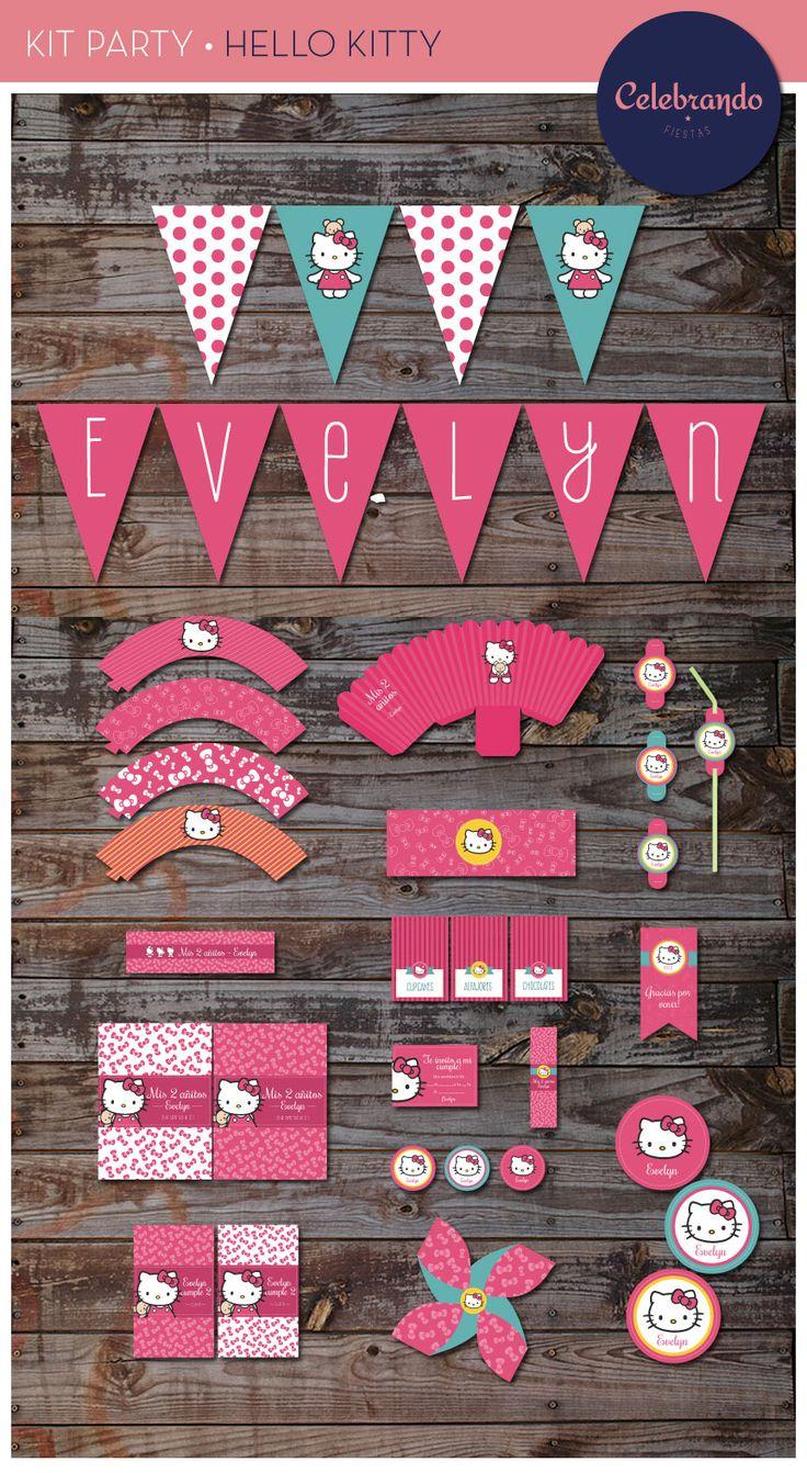 Kit imprimible Hello Kitty - Celebrando Fiestas