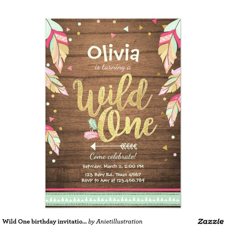 Best First Birthday Invitations Ideas On Pinterest St - Invitation birthday party girl