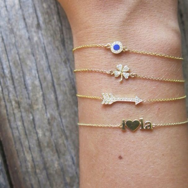 Always layer your Jennifer Meyer Jewelry bracelets with love! xo