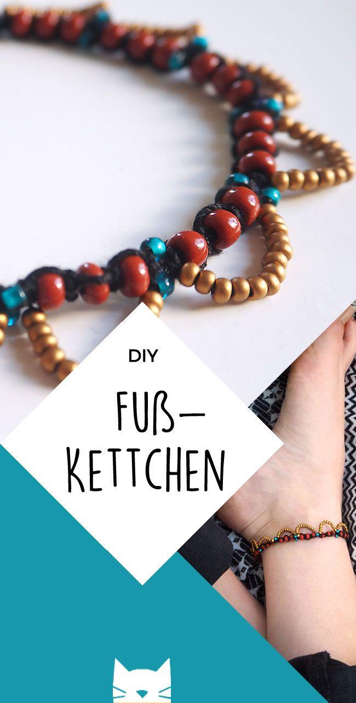 DIY: Bohemian Chic: Knüpf' dir ein Fußkettchen