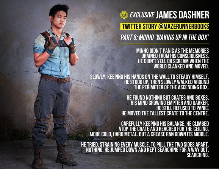 Shorts exclusively written by James Dashner for hte Maze Runner Books. Part 6 #Minho #MazeRunner #Box
