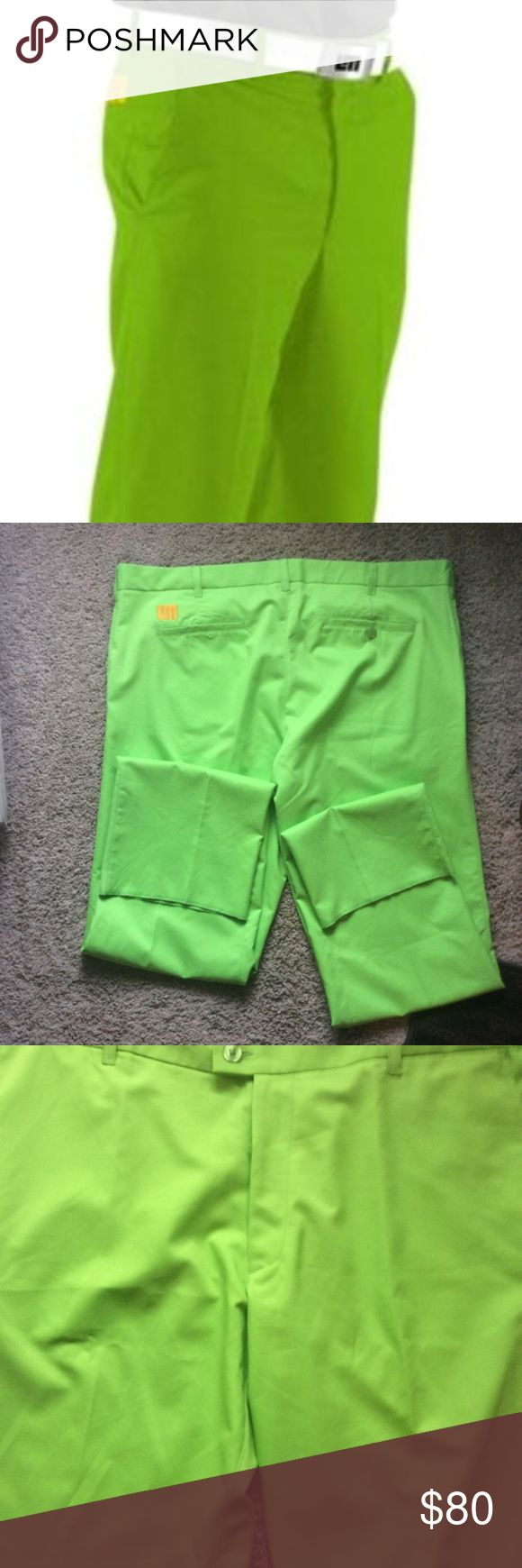 Electric Green Loudmouth Golf Pants by John Staley Wick Wear/Casual Fit, perfect for a hot day 42x34L No flaws or issues with pants, in excellent condition! Bundle and/or make an reasonable offer to save big!! :) Pants
