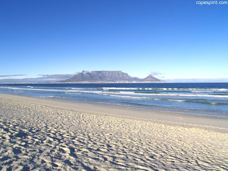 Table Mountain Cape Town seen from Blouberg Beach
