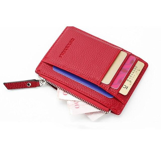 Women Slim ID Credit Card Holder Pocket Case Purse Wallet Business PU Leather