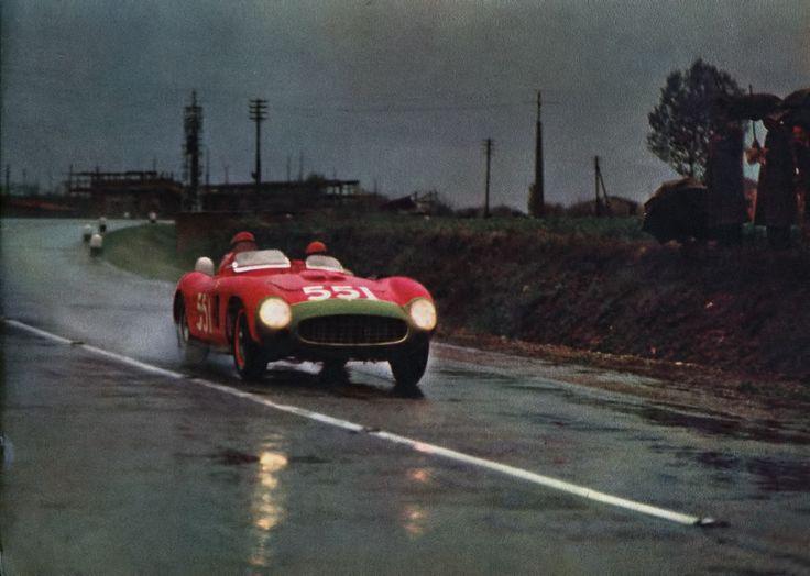 Peter Collins / Louis Klementaski, #551 Ferrari 860 Monza (Scuderia Ferrari), Mille Miglia 1956 (2nd)