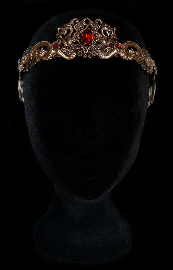 Dragon Queen Crown Medieval Renaissance Circlet por AMonSeulDesir
