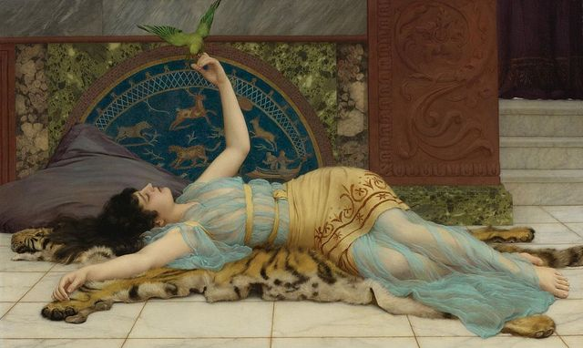 "John William Godward (British, 1861-1922), ""Dolce Far Niente"" by sofi01, via Flickr"