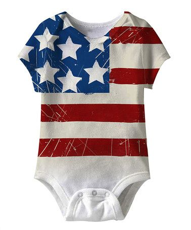 White American Flag Sublimation Bodysuit - Infant by American Classics on #zulily
