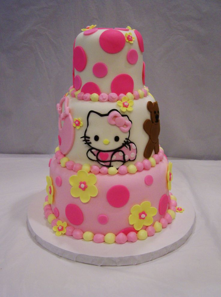 hello kitty baby shower cake for girl | baby shower cakes ...