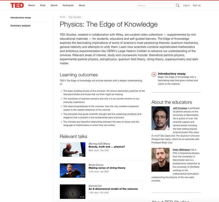 https://www.ted.com/read/ted-studies/physics  An example of cross promotion.  This could be utilised for FCB events.
