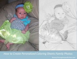 Too cute for words!!!! This site shows you how to convert digital photos into coloring sheets for kids!!! So fun!