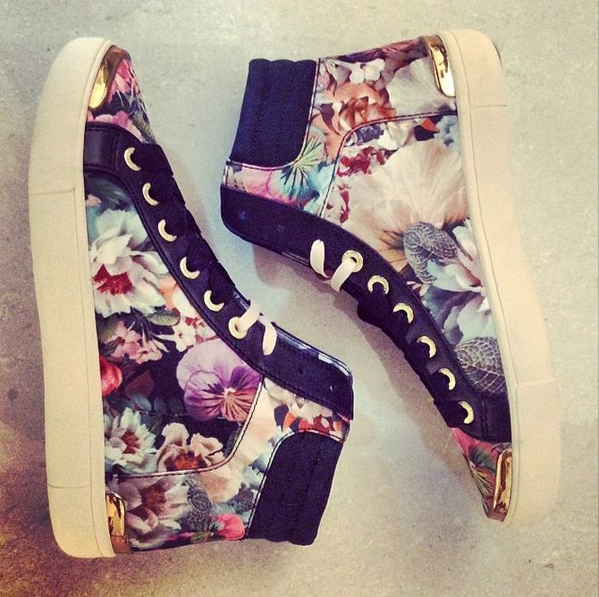 Romantic sneakers?? by Ted Baker beauties (look for BIG flowers on shoes)