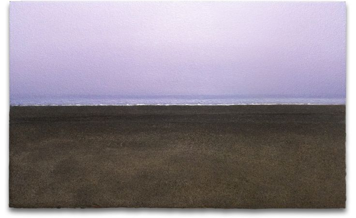 The Tide's Edge, 2013, acrylic and sand on panel, 56cm x 91cm